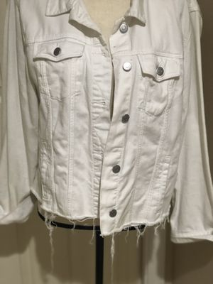 White jean embellished jacket for Sale in Pompano Beach, FL
