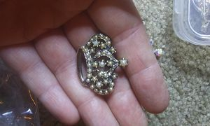 Vintage gold toned pearl crown brooch pin for Sale in Tullahoma, TN