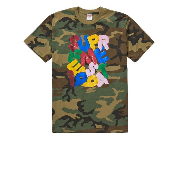 Supreme T-shirt balloons woodland camo men's large