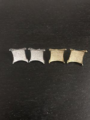 925 sterling silver earrings screw back ($25 a pair)(big) for Sale in Philadelphia, PA