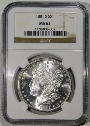 1881-S Morgan Silver Dollar NGC MS-63 for Sale in Fairview, NJ