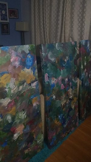 3 large canvas painting set for Sale in Rockville, MD