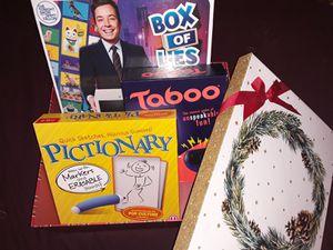 Box of new board games for Sale in Visalia, CA