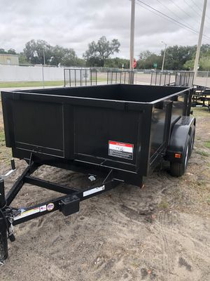 Triple crown 6x12TA lowrider Dump trailer @ Brothers Trailers for Sale in Tampa, FL