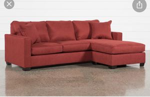 Living spaces red sectional reversible couch for Sale in San Francisco, CA