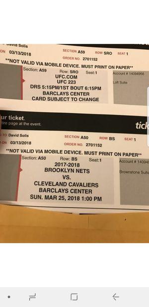 Cavs vs nets for Sale in New York, NY
