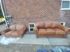 leather couches / sofa set. for Sale in Queens, NY