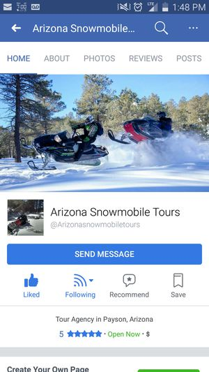 Snowmobile tours up north for Sale in Glendale, AZ