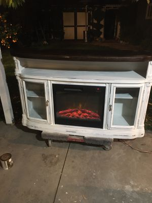Chabby chic fireplace tv stand for Sale in West Covina, CA