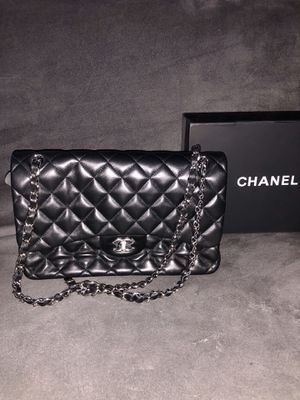 Chanel double flap bag leather for Sale in New York, NY