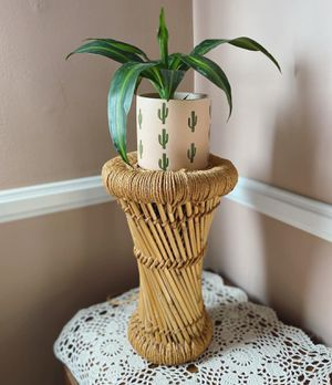 Bamboo Rattan Plant Stand for Sale in Torrance, CA
