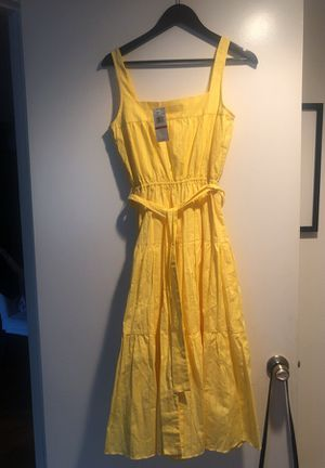 Michael Kors Yellow linen summer dress size xs but more like small for Sale in Fort Lauderdale, FL