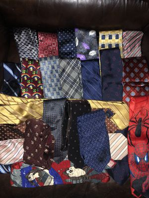 Lot of men's neckties assorted for Sale in Ashburn, VA