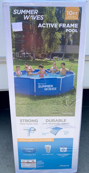 """Summer Waves 10' x 30"""" Metal Frame Pool for Sale in Azusa, CA"""