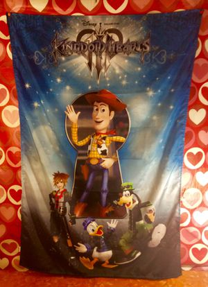 Kingdom Hearts 3 Fabric Wall Hanger Poster $6 Or Best Offer for Sale in Moreno Valley, CA