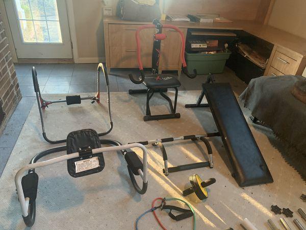 Assorted gym equipment!