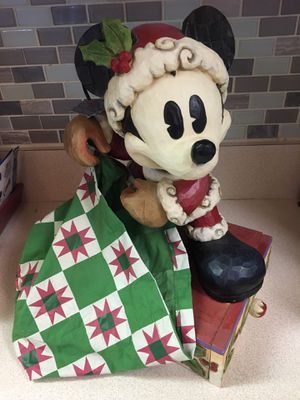 Santa Mickey Mouse Jim Shore Disney Traditions Bundle of Holiday Cheer Statue for Sale in Winter Haven, FL