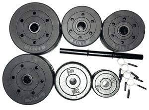 81.5 lb Vinyl weight plates Plus 1 Dumbbell Handle & 4 Spring Clips for Sale in Nashville, TN