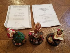 Norman Rockwell Christmas Santa ornaments for Sale in Huntington Beach, CA
