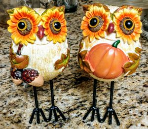 FALL DECOR- OWL & SUNFLOWER for Sale in Westminster, MD