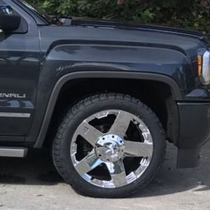 """22"""" XD Series Rockstar Chrome Wrapped in Nitto Terra Grappler G2 Tires 22"""" X 9.5"""", 6x139.7 Bolt Pattern GMC SIERRA for Sale in Hollywood, FL"""