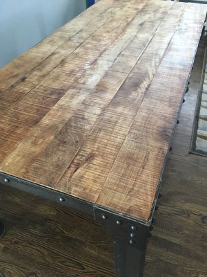 Industrial Wood and Metal Large Table for Sale in Stafford Township, NJ