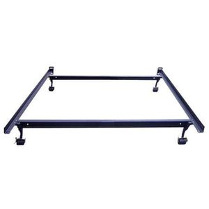 New in Box. TWIN - FULL steel bed frame with wheels $40 or MAKE OFFER for Sale in Bellevue, WA