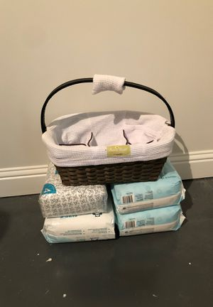 SaraBear Diaper Caddy by munchkin and diapers for Sale in Decatur, GA