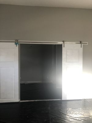 Stainless steel barn double door hardware 13ft for Sale in Henderson, NV