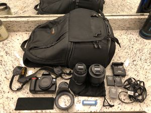 Nikon D60, 2 lenses, many extras. for Sale in Irving, TX