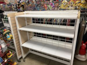 2 retail rack shelves on wheels for Sale in Lewiston, ME