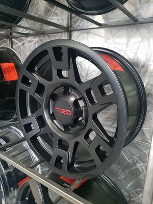 17x8 6x139 TRD reps fits Tacoma 4runner sequoia lexus GX satin black wheel rim tire shop for Sale in Tempe, AZ