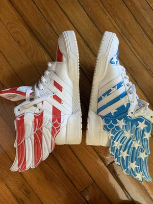 Adidas Jeremy Scott Wings 2.0 US Flag Stars and Stripes (Size 11.5) for Sale in Englewood Cliffs, NJ