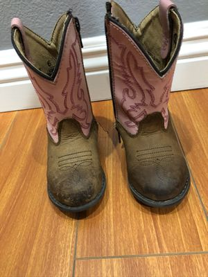 Toddler girl's size 6 Smoky Mountain distress pink boots for Sale in Santa Clarita, CA