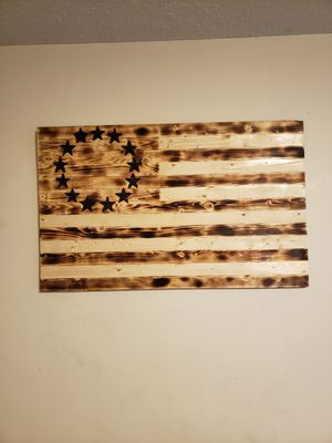 Homemade wooden American flag for Sale in Savannah, MO