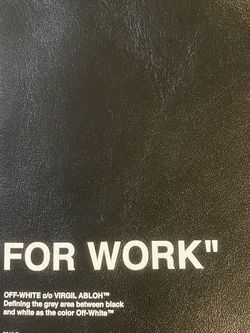 """Off White """" FOR WORK """" Pouch for Sale in Portland,  OR"""