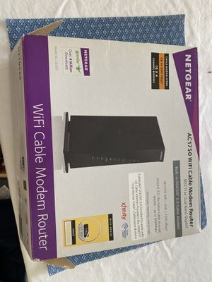 Netgear C6300 Wi-Fi router and cable modem for Sale in Larchmont, NY