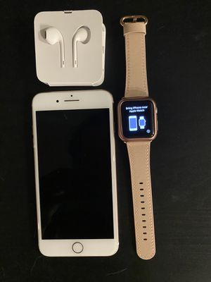 iPhone 7 Plus + Watch (1st gen)— Rose Gold 128 GB —AT&T for Sale in Phoenix, AZ