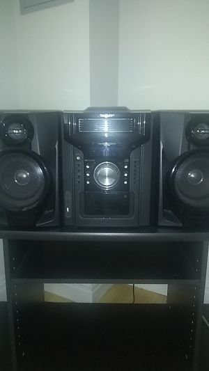 Sharp five cd player cassette 240 watts each speaker for Sale in The Bronx, NY