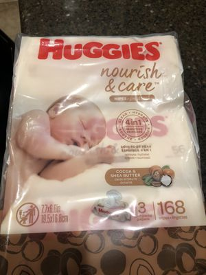 Pack of 3: Huggies Nourish & Care Wipes with Shea Butter & Cocoa for Sale in Chula Vista, CA