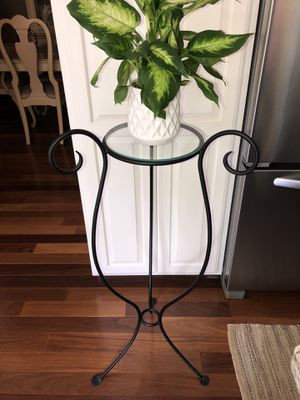 Black Metal and Glass Plant Stand for Sale in Aliquippa, PA