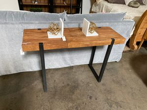 Wood + metal console table for Sale in San Diego, CA