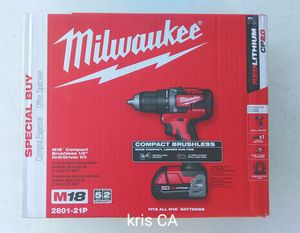 Milwaukee brushless drill kit for Sale in La Puente, CA