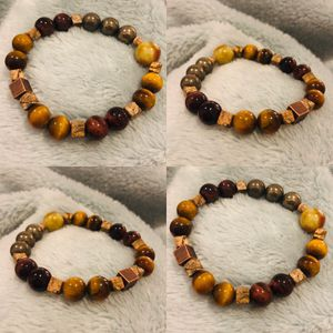 Crystal Bracelets (red & golden tiger eye, pyrite, petrified wood, dragon blood) for Sale in San Diego, CA