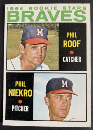 1964 Phil NIEKRO Rookie Topps Baseball Card # 541 Milwaukee Braves for Sale in Brea, CA