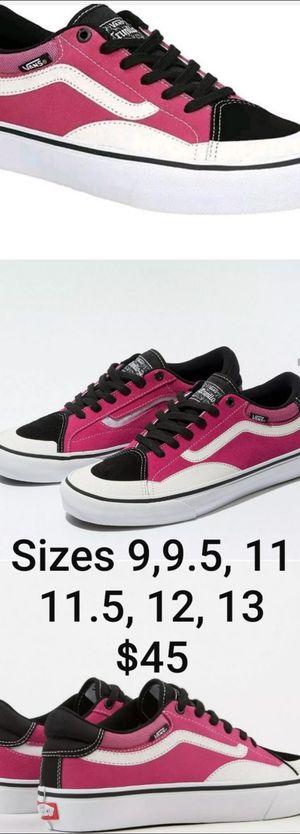 Vans new TnT magenta black and white Skate Shoe new in box for Sale in Pomona, CA