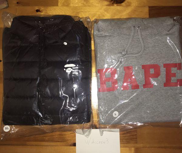 Bape/A Bathing Ape Hoodie and Light Puffer Jacket