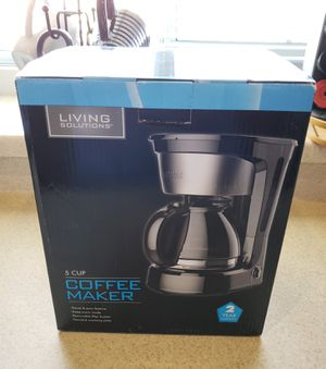 New Coffee Maker 5 Cup for Sale in North Las Vegas, NV