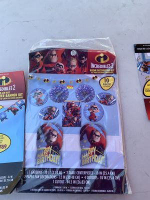 Incredibles 2 birthday banner for Sale in Los Angeles, CA