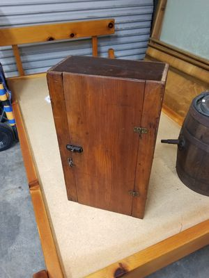 Small Early Wood Cabinet / Shelf Unit w/ Single Door for Sale in Syracuse, NY